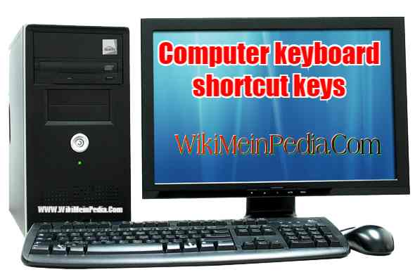 Computer keyboard shortcut keys