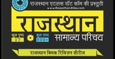 Rajasthan GK Notes PDF