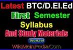 BTC / D.el.ed First Semester Syllabus