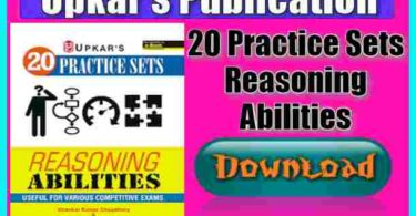 20 Practice Sets Reasoning Abilities