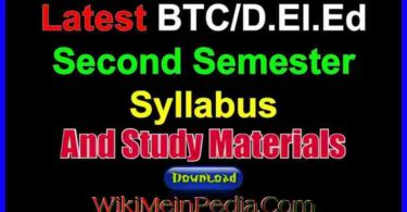 BTC / D.el.ed Second Semester Syllabus