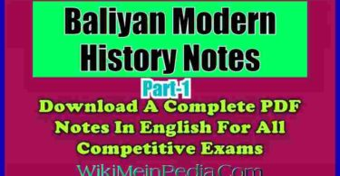 Baliyan Modern History Notes Part-1