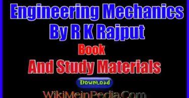 Engineering Mechanics By R K Rajput