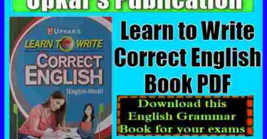 Learn to Write Correct English Book PDF