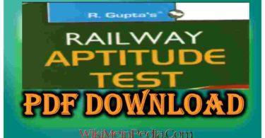 R.Gupta's Railway Aptitude Test Book