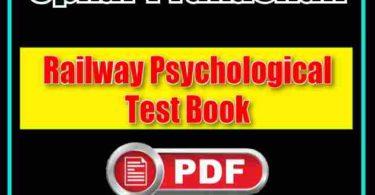 Railway Psychological Test by Upkar Prakashan