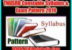 TNUSRB Constable Syllabus & Exam Pattern