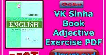 VK Sinha Book Adjective Exercise