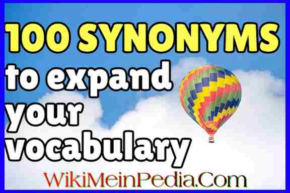 100 English Synonyms