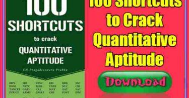 100 Shortcuts to Crack Quantitative Aptitude