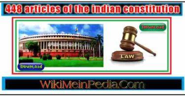 448 articles of the indian constitution