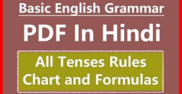 English Grammar Tenses PDF