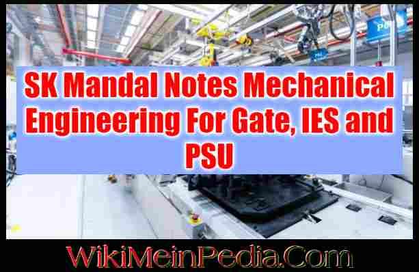 SK Mandal Notes Mechanical Engineering