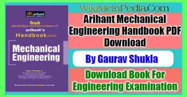 Arihant Mechanical Engineering Handbook PDF