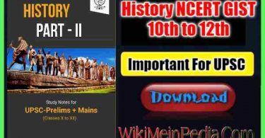 History NCERT GIST 10th to 12th