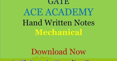 Gate Ace Engineering Academy Hand Written Notes