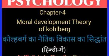 Moral Development Theory of Kohlberg