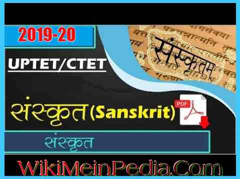 Sanskrit Notes PDF For UPTET CTET