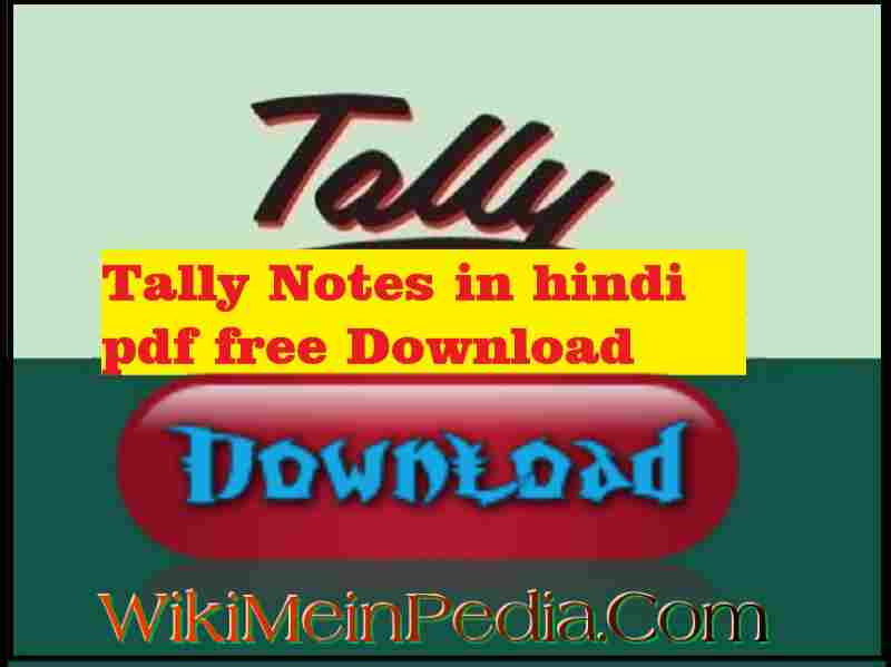 Tally Notes In Hindi