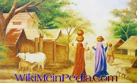 essay on village life in hindi