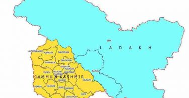 Jammu Kashmir Ladakh Political Map Pictures in Hindi PDF