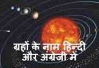 ग्रहों के नाम-Planets Name In Hindi & English |Graho Ke Naam|