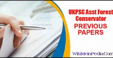 UKPSC Asst Forest Conservator Previous Papers