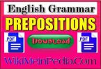 Appropriate Preposition PDF Download