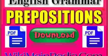 Appropriate Preposition PDF Download