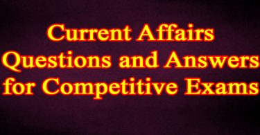 Current Affairs Question and Answer