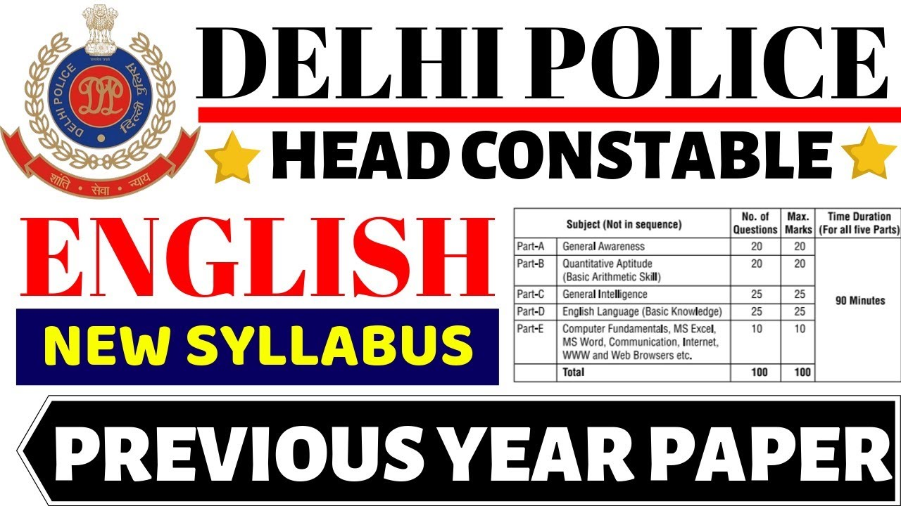 Delhi Police Previous Question Papers