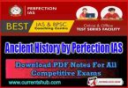 Ancient History by Perfection IAS pdf Download