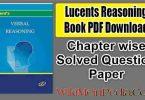 Lucents Reasoning Book Hindi PDF Download