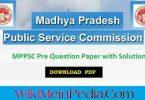 MPPSC Question Paper PDF 2019
