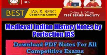 Medieval Indian History Notes by Perfection IAS