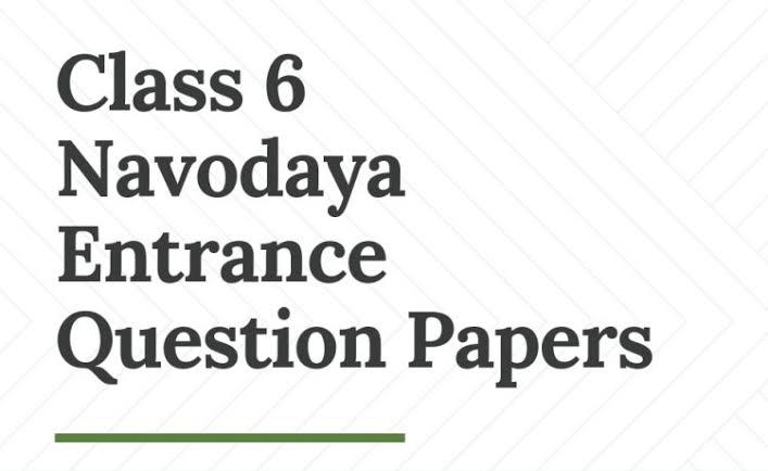 jawahar navodaya vidyalaya entrance paper, Entrance Books PDF Download