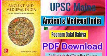 Ancient & Medieval India By Poonam Dalal Dahiya Full PDF Download