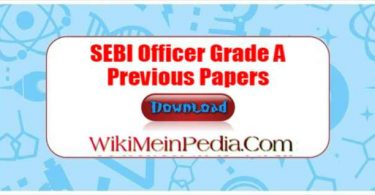 SEBI Officer Grade A Previous Papers