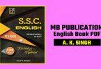 MB Publication English Book PDF By A. K. Singh Download
