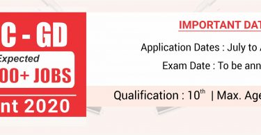 SSC GD 2020: Exam Dates, Notification, Exam Pattern & Syllabus, Pay Scale and Promotion Policy