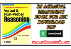 R S Aggarwal Logical Reasoning Book Free PDF Download