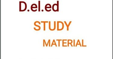 D.El.Ed. Study Material in English & Hindi PDF