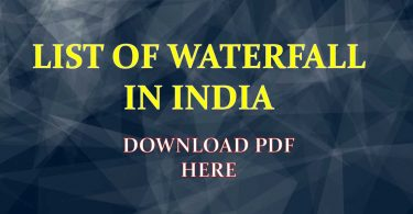 List of Waterfall in India PDF Free Download